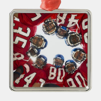Football Players in Huddle Christmas Ornament