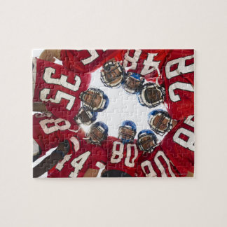 Football Players in Huddle Jigsaw Puzzle