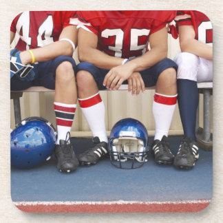 Football Players on Bench 2 Coasters