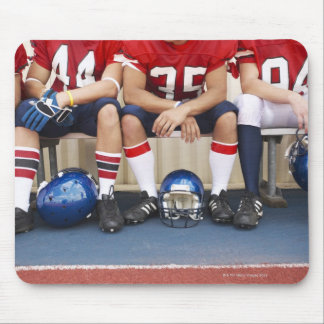 Football Players on Bench 2 Mouse Pad