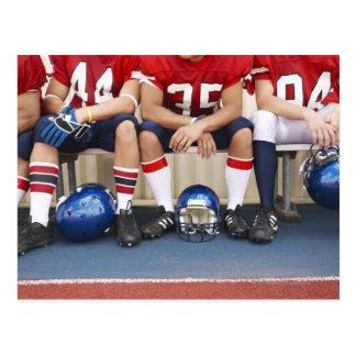 Football Players on Bench 2 Postcard