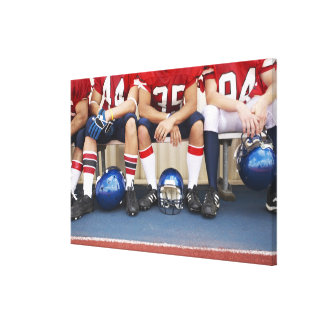 Football Players on Bench 2 Stretched Canvas Prints