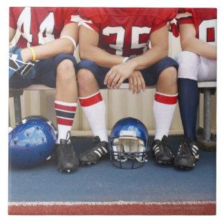 Football Players on Bench 2 Tiles