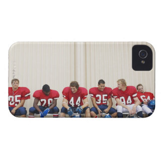 Football Players on Bench iPhone 4 Case