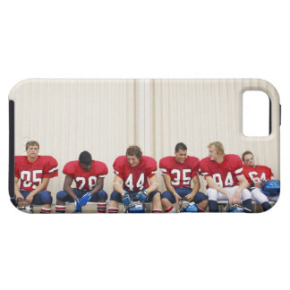 Football Players on Bench Tough iPhone 5 Case