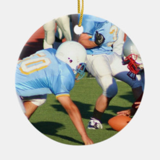 Football players ornament