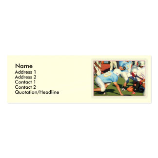 Football players pack of skinny business cards