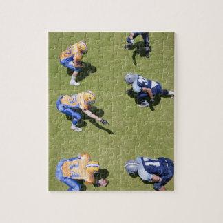 Football players playing football jigsaw puzzle