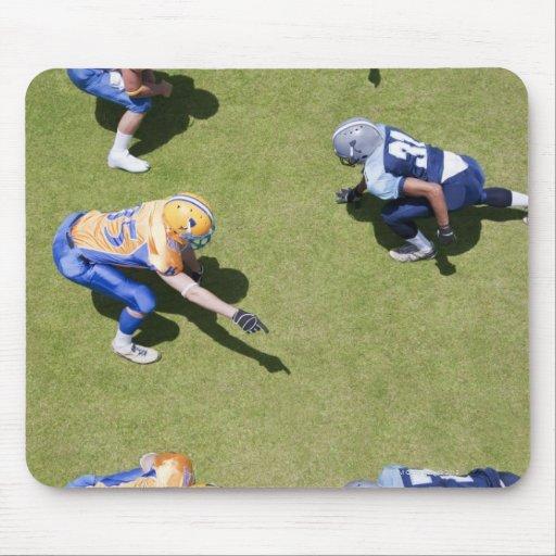 Football players playing football mousepad