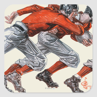 Football Players Square Sticker