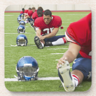 Football Players Stretching Coaster