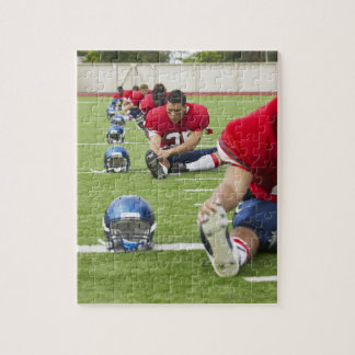 Football Players Stretching Jigsaw Puzzle