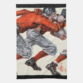 Football Players Tea Towel