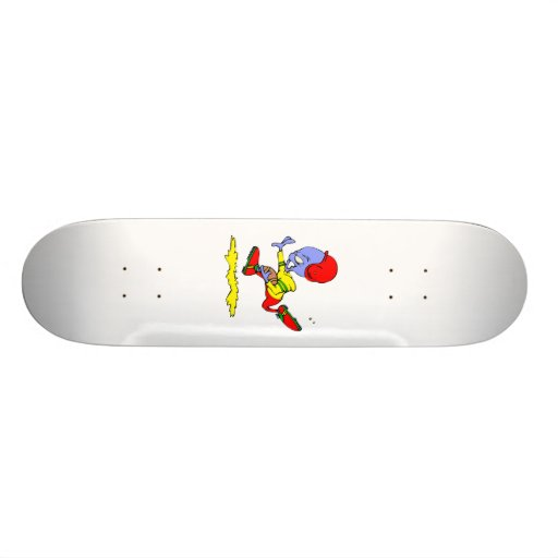 Football Playing Alien Skate Board Deck