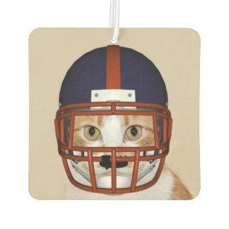 Football playing kitty cat car air freshener