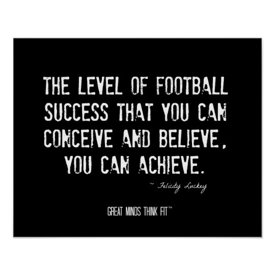 Football Poster with Motivational Quote