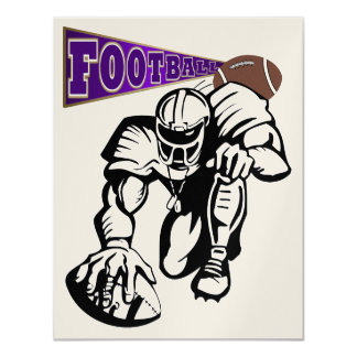 Football Purple and Gold Invitation  by SRF