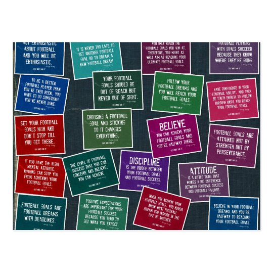 Football Quotes for Motivation Postcard