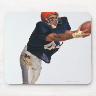 Football receiver catching ball 2 mouse mat