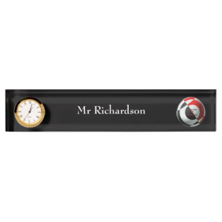 Football Red and Black Nameplates