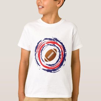 Football Red Blue And White T-Shirt