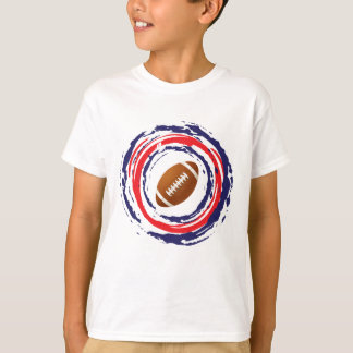 Football Red Blue And White T Shirts