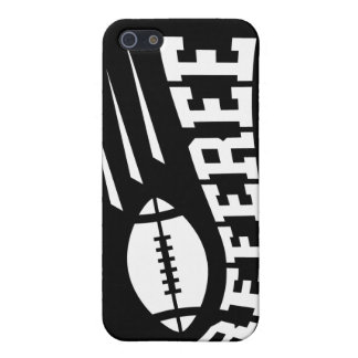 Football referee white on black with bouncing ball iPhone 5/5S case