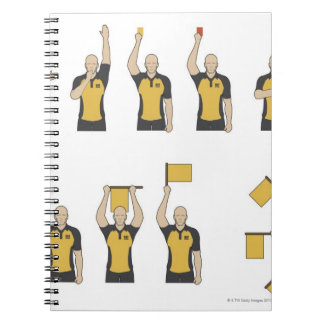 Football referees' signals notebooks