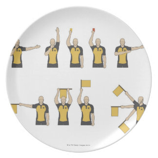 Football referees' signals plate