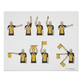 Football referees' signals poster