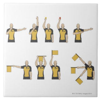 Football referees' signals tile