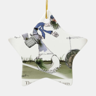 football right wing blue kit christmas ornament