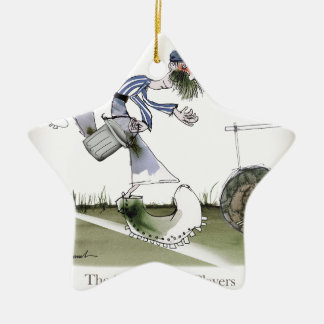 football right wing blue white kit christmas ornament