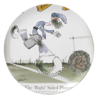 football right wing blue white kit plate