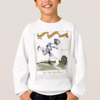 football right wing blue white kit sweatshirt