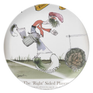 football right wing red kit plate