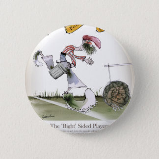 football right wing red white kit 6 cm round badge