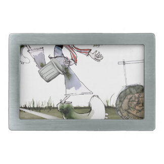 football right wing red white kit belt buckle
