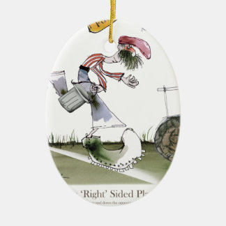 football right wing red white kit christmas ornament