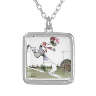 football right wing red white kit silver plated necklace