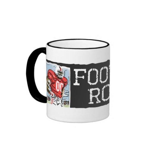 Football Rocks Red Mug