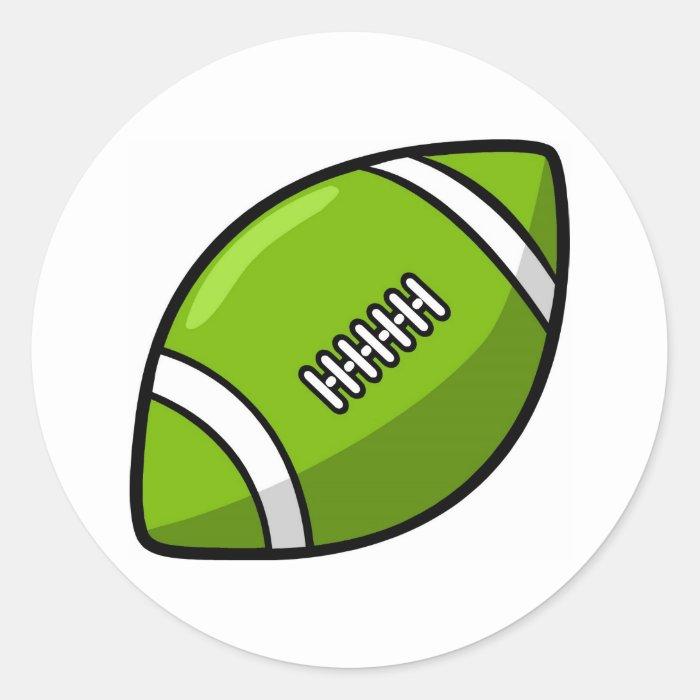 Football Round Sticker