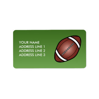 Football Rugby Ball Address Label
