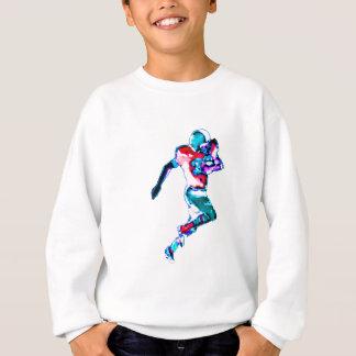 Football Runner Cyan Transp jGibney The MUSEUM Zaz Sweatshirt