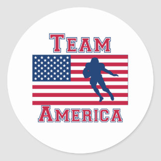 Football Running Back American Flag Team America Sticker