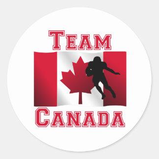 Football Running Back Canadian Flag Team Canada Stickers