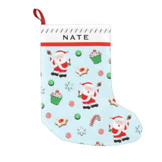 Football Santa Small Christmas Stocking