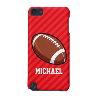 Football; Scarlet Red Stripes iPod Touch 5G Covers