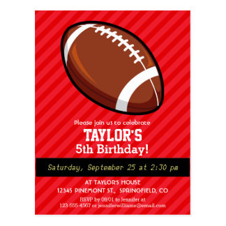 Football; Scarlet Red Stripes Postcard