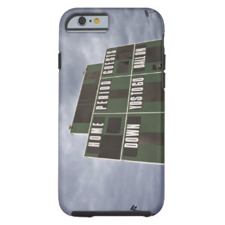Football scoreboard and storm clouds. tough iPhone 6 case